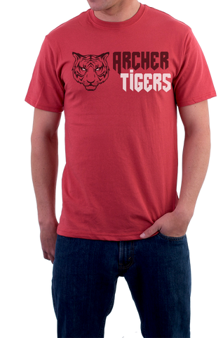 Archer Tigers Shirt (Red), Shirts - Peachy Brass