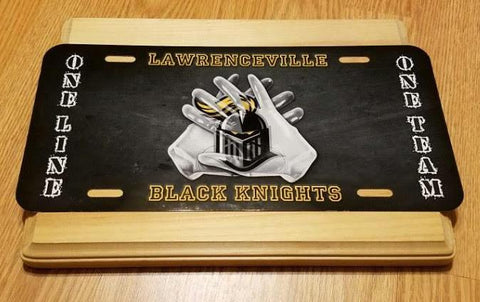 Black Knights License Plate, License Plates - Peachy Brass