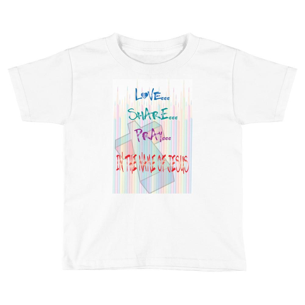 Jesus Pencils Child T-Shirt - Peachy Brass