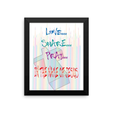 Jesus Pencils Framed Poster,  - Peachy Brass
