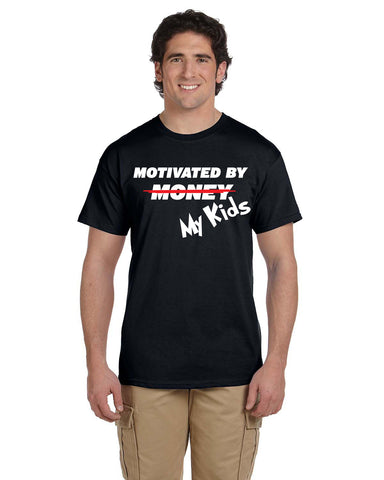 Motivated By Money (My Kids) Shirt, Shirts - Peachy Brass