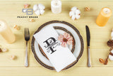 Personalized Cloth Napkins, Napkins - Peachy Brass