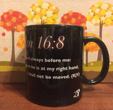 Psalms 16:8 Mug, Mugs - Peachy Brass