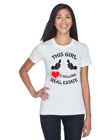 This Girl Loves Selling... Shirt, shirt - Peachy Brass