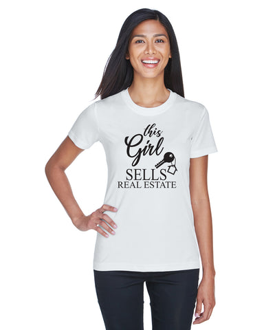 This Girl Sells Real Estate Shirt, shirt - Peachy Brass