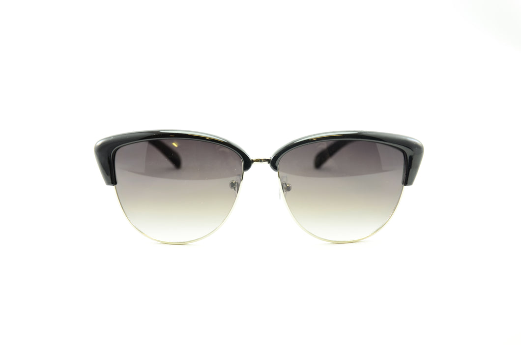 Open Frame Wafe Sunglasses-BLACK