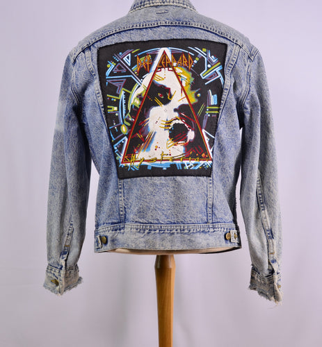 Vintagelee Branded Def Leppard Denim Jacket