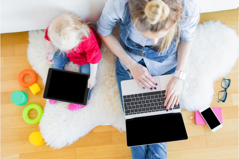 Top tips to be productive when working from home with children
