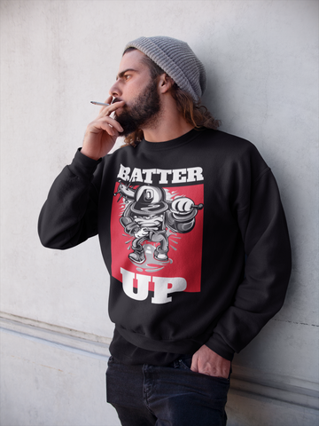 Batter Up! HD Crewneck Sweatshirt - Thathoodyshop