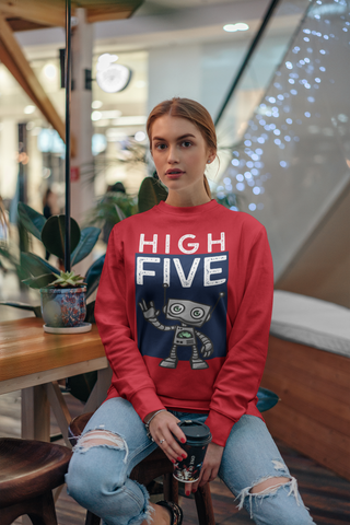 High Five HD Crewneck Sweatshirt - Thathoodyshop