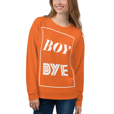 Boy BYE Sweatshirt (Orange) - Thathoodyshop