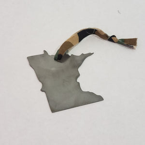 Minnesota Camo Rustic Metal Ornament