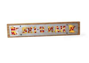 "Minnesota Golden Gophers ""Ski-U-Mah"" Rustic Wood & Metal Large Home Decor Sign"