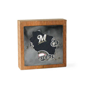 Milwaukee Brewers Rustic Small Sign - Metal on Wood - Fan Series