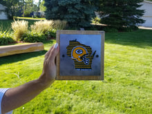 Green Bay Packers Rustic Wood & Metal Small Home Decor Sign