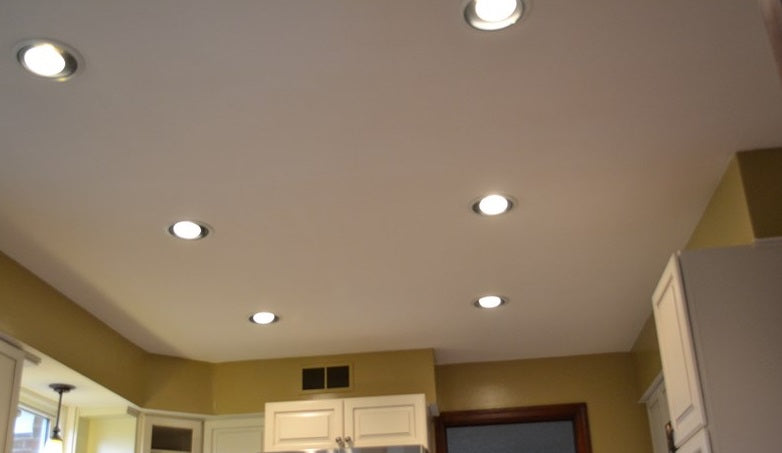 Supplied LED downlights installed by an electrician