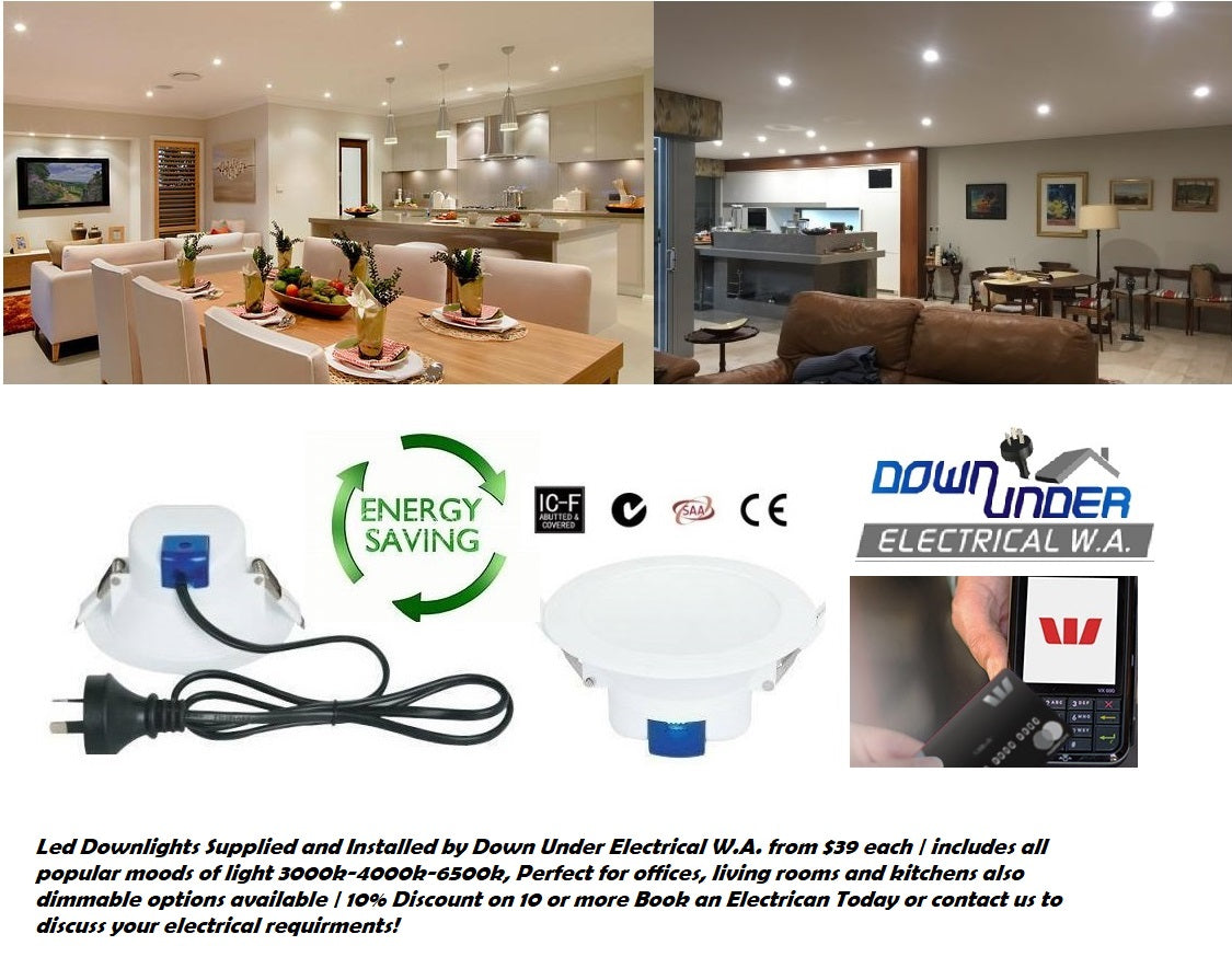Led Downlights installed Perth