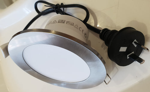 Led Downlights supplied and Installed Stainless Steel  90mm Cut-Out Led downlight Perth Area only - down under electrical wa