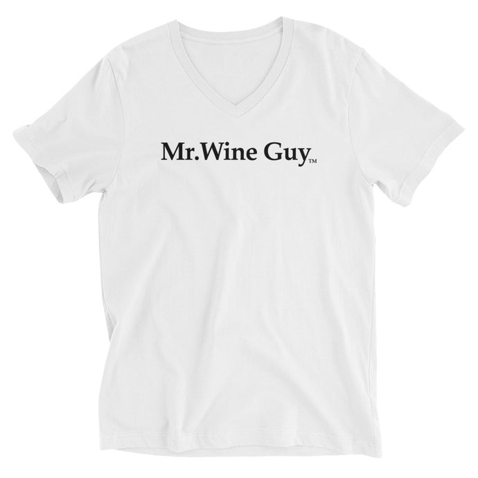 Mr. Wine Guy V-Neck, white