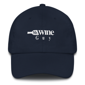 Mr. Wine Guy Dad Hat Logo