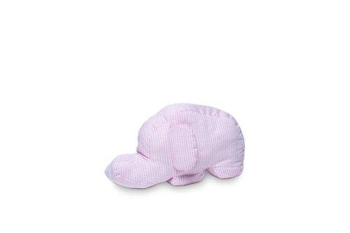 Kindertraum 51051080023 Cuddle Cushion with Elephant Motif Small 11 x 23 cm Pink / White