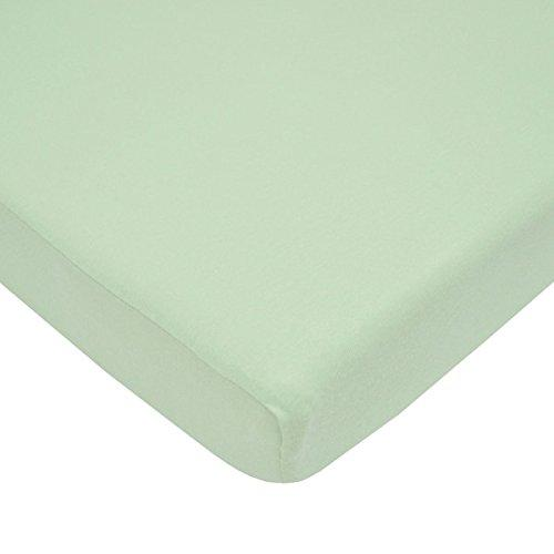 aBaby 2 Piece Jersey Knit Crib/Toddler Sheets Set, Celery