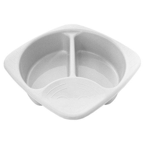 Junior Joy White Plastic Top and Tail Bowl for Baby