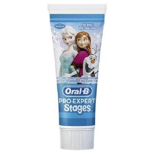 Oral-B Disney Frozen Pro-Expert Stages Kids Toothpaste 75 ml (Pack of 6)
