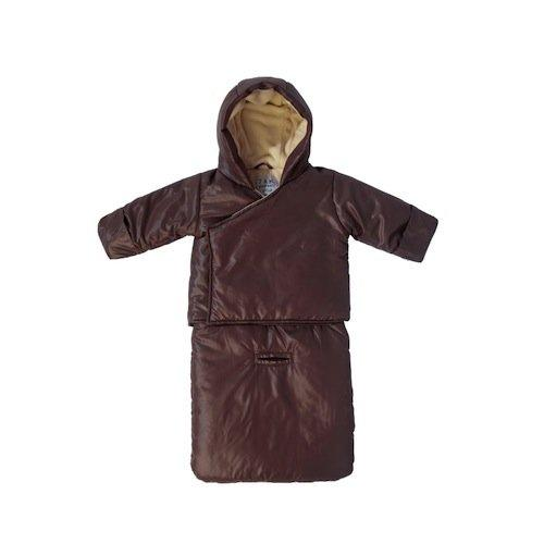 7AM Enfant BagOcoat Jumpsuit Sacs, Marron Glace, Large