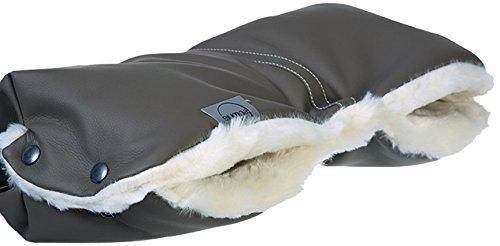 Teutonia 1911596 Polar Bear Pram Hand Warmer, Leather Look, Grey