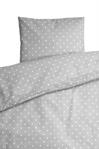 Farg Form Bedset for Pram with Spots (Grey)