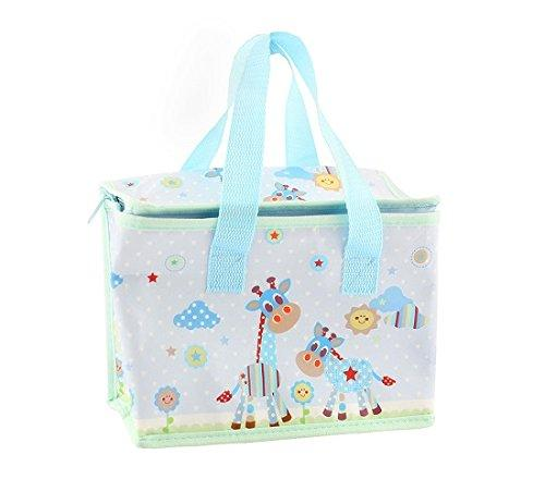 Lesser and Pavey - Little Treats Little Sunshine Giraffe Picture Foil Insulated Lunch Bag (Blue)