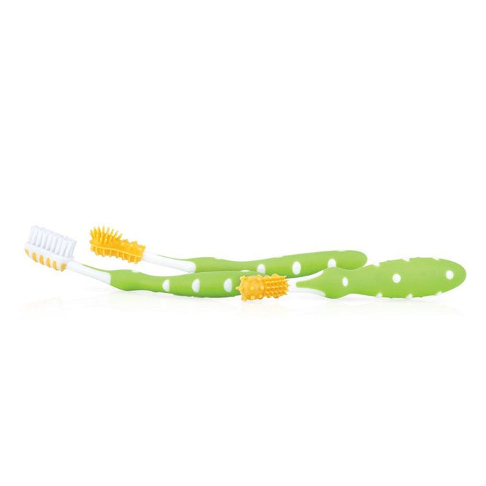 Nuby ID754 3 Piece Toothbrush Set (Colours May Vary)