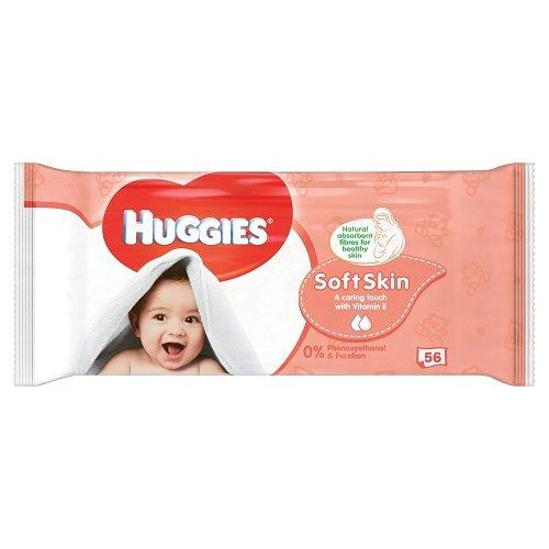 Huggies Soft Skin Single 56 Pack