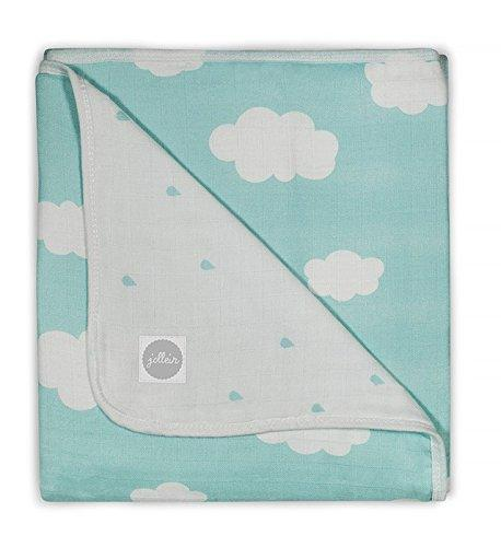 Jollein 521 557 65055 Absorbent Cloth 120 x 120 cm Clouds Jade