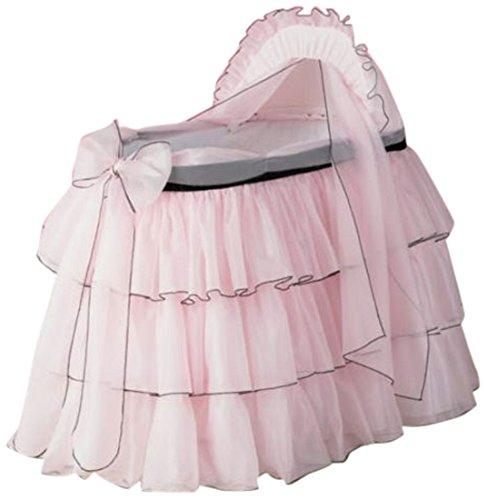 Baby Doll Bedding  Sherbert Bassinet Set, Pink