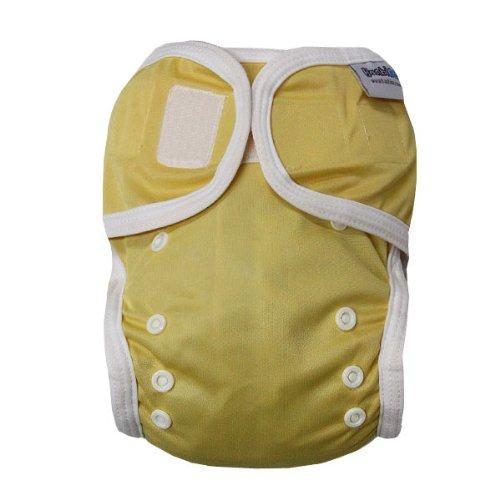 Bambinex One Size Easy On Easy Off Bamboo Nappy Wrap (Yellow)