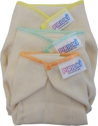 Piriuki Prefold Reusable Nappies (Pack of 6)