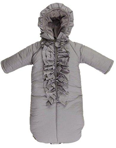 bkb Ruffle Snowsuit, Grey