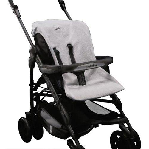 Inglesina Zippy Stroller Summer Cover Accessory, Light Grey