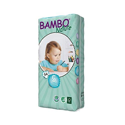 Bambo Nature Junior Size 5 (26-49lb / 12-22kg) Eco Nappies - 54 pieces / Tall Pack