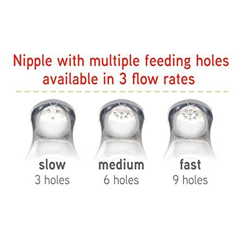 NUK Simply Natural Medium Flow Nipple, 2 Count