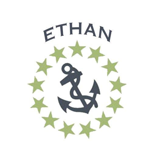 aBaby Stars and Anchor Wall Decal, Ethan, 16""