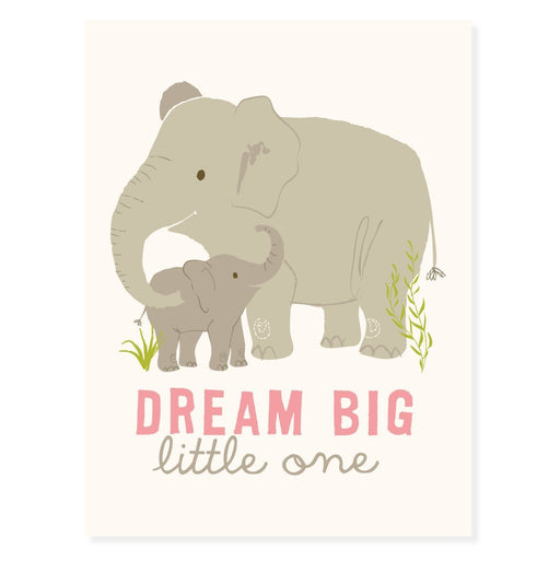 "Sea Urchin Studio Dream Big Art Poster for Girls, Grey/Pink, 12"" x 16"""