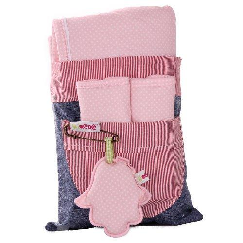 Minene Universal Pushchair Stroller Pram Buggy Liner Footmuff Cosytoes Car Seat with safety straps(Pink Polka Dots)