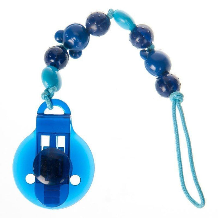Difrax Beads Pacifier Clip and Holder (Blue)