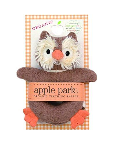 Apple Park Picnic Pal Teething Rattle, Owl