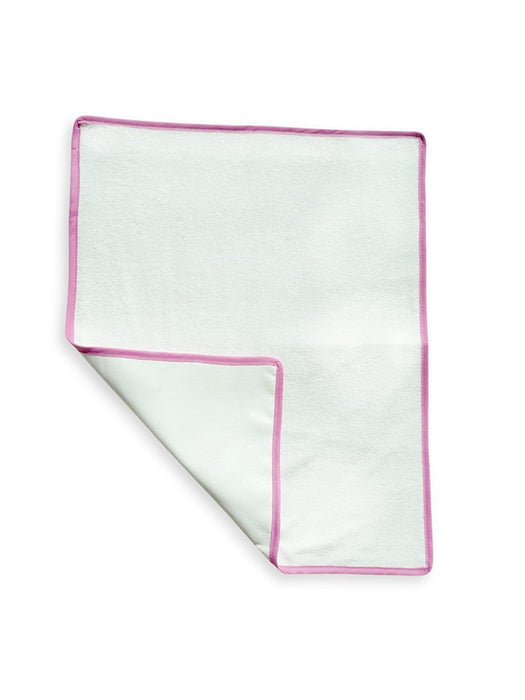 Ideenreich 2035 Waterproof Pad for Changing Mat 50 x 40 cm White with Pink Border