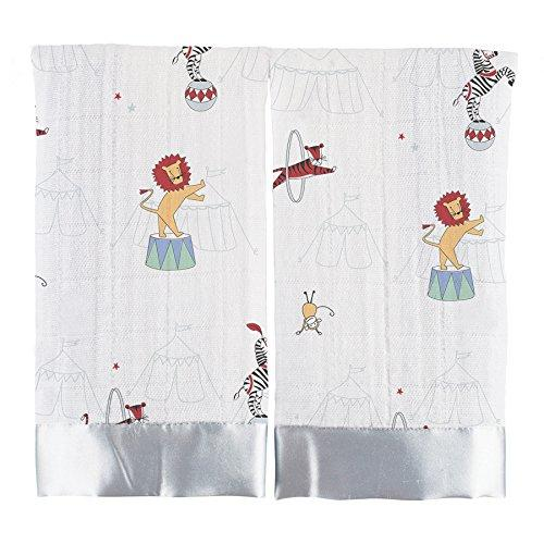 aden + anais Security Blanket (Vintage Circus Issie, Pack of 2)
