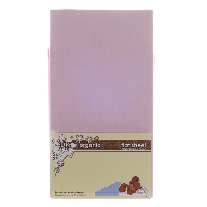 DK Glovesheets Flat Sheet for Cots and Beds (Organic Pink)